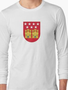 Coat of Arms of the Community of Madrid (Shield) Long Sleeve T-Shirt