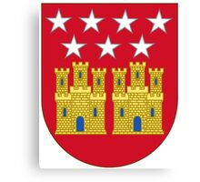 Coat of Arms of the Community of Madrid (Shield) Canvas Print