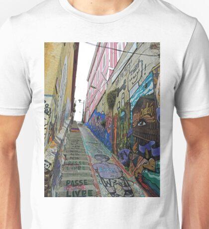 A Lane in Valparaiso Unisex T-Shirt