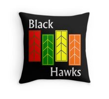Black Hawks (reverse colors) Throw Pillow