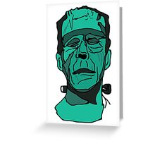 Frankenstein (Done by Tablet) Greeting Card