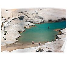 The blinding rocks of Sarakiniko - Milos island Poster