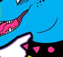 Neon Raptor Sticker