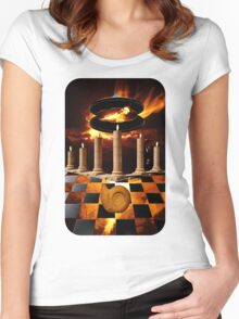 The Elemental Tourist - Fire Women's Fitted Scoop T-Shirt