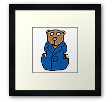 librarian teddy Framed Print