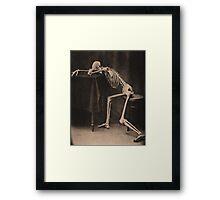 Drunk Skeleton Framed Print