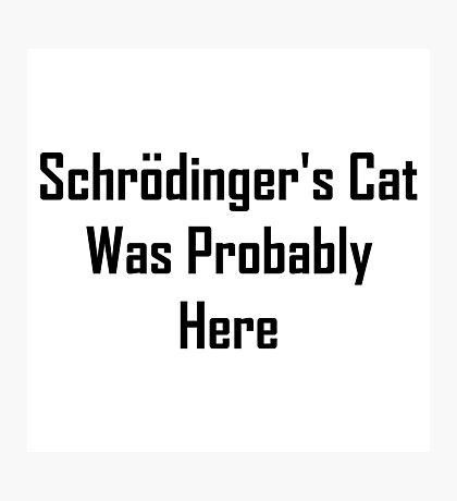 Schrodinger's Cat Was Probably Here Photographic Print