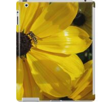 Bee Enjoying Sun on Yellow Flower iPad Case/Skin