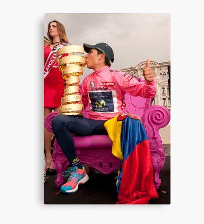 Nairo Qunitana - Giro d'Italia Champion Canvas Print