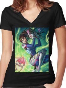 DVA Women's Fitted V-Neck T-Shirt