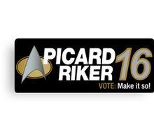 Picard / Riker 2016 Canvas Print