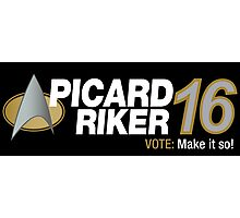 Picard / Riker 2016 Photographic Print