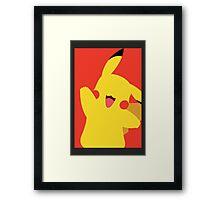 Minimalist Pikachu Framed Print