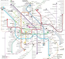 Berlin U-bahn S-bahn map by Jug Cerovic