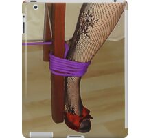 Bodystocking, Ropes and Tied to Chair Girl BDSM Play 2 iPad Case/Skin
