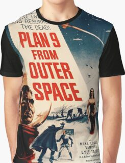 Plan 9 From Outer Space Retro Movie Pop Culture Art Graphic T-Shirt