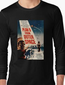 Plan 9 From Outer Space Retro Movie Pop Culture Art Long Sleeve T-Shirt