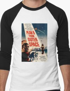 Plan 9 From Outer Space Retro Movie Pop Culture Art Men's Baseball ¾ T-Shirt