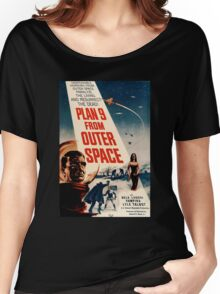Plan 9 From Outer Space Retro Movie Pop Culture Art Women's Relaxed Fit T-Shirt