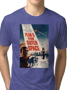 Plan 9 From Outer Space Retro Movie Pop Culture Art Tri-blend T-Shirt