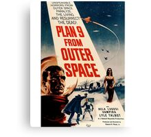 Plan 9 From Outer Space Retro Movie Pop Culture Art Canvas Print