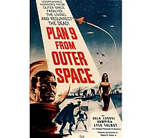 Plan 9 From Outer Space Retro Movie Pop Culture Art Photographic Print