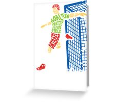 Soccer Typo Greeting Card