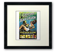 Creature from the Black Lagoon Retro Movie Pop Culture Art Framed Print