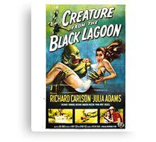 Creature from the Black Lagoon Retro Movie Pop Culture Art Canvas Print