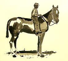 Horse Rider Civil War Period by Daniel Gallegos