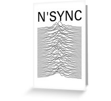 N'SYNC - Unknown Pleasures (white) Greeting Card
