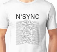 N'SYNC - Unknown Pleasures (white) Unisex T-Shirt
