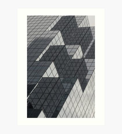Mirrors of a glass building Art Print
