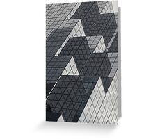 Mirrors of a glass building Greeting Card