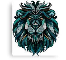 Lion Deep Totem Canvas Print