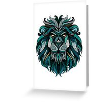 Lion Deep Totem Greeting Card
