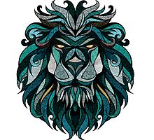 Lion Deep Totem Photographic Print