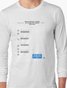 Hamilton Group Text Long Sleeve T-Shirt