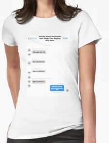 Hamilton Group Text Womens Fitted T-Shirt