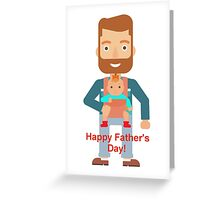 Father's Day - baby wearing  Greeting Card