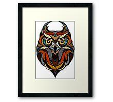 Athene Noctua Deep totem Framed Print