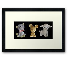 Kitty Mousie Lambie Framed Print