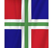 Groningen Province Flag by Schuurman050