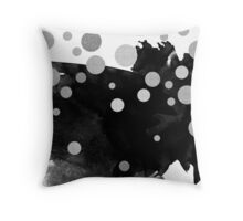 Smudge - Back and Silver Throw Pillow