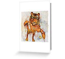 tiger splash ! Greeting Card