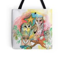 Owls and Stars Tote Bag