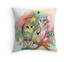 Owls and Stars Throw Pillow