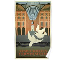 Venice Simplon Orient-Express Milano Vintage Travel Poster Poster