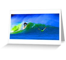 80's Surf Style - The Drop Greeting Card