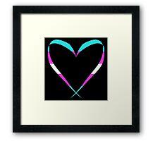 Trans Heart Framed Print